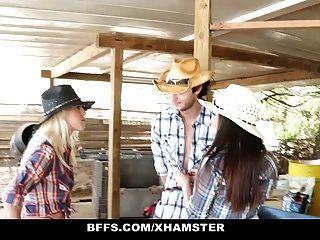 bffs girls country quente compartilham um galo