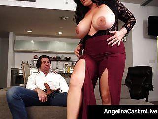 rainha latina angelina castro \u0026 gemma roberta foda-se um galo!