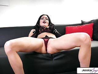jessica jaymes mostrar sua bunda apertada, peitos grandes e boceta molhada