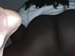 vagabunda branca esfrega sua buceta até ela cums tudo no meu pau preto