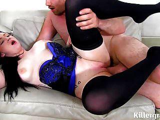 sub slut usado pela amante e grande galo garanhão