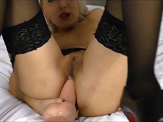 foda anal por grandes saltos altos dildo (helena moeller)