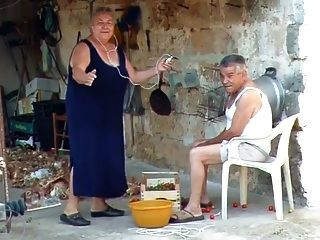 bbw avó italiana chama vovô para foder
