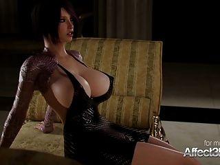 loira com tesão e sua namorada de mamas grandes desfrutando de sexo futa