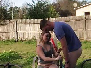 sexo amador em seu quintal