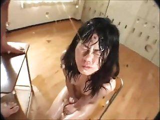 mijo bukkake menina asiática