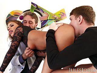 jules jordan adriana chechik duplo anal ejaculação interna