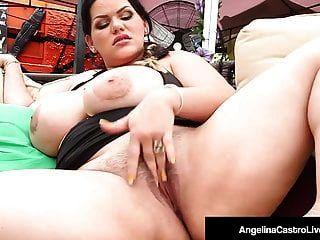 bbw cubano angelina castro dedos buceta e boca fode um pau